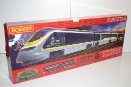 GRADE U- BOXED HORNBY EUROSTAR 00 GAUGE TRAIN SET RRP-£139.00