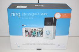 GRADE U- BOXED RING VIDEO DOORBELL 2 PLUS CHIME RRP-£195.00