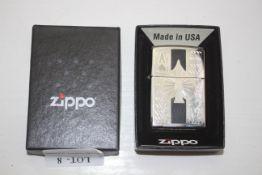 GRADE U- BOXED ZIPPO ACE OF SPADES PETROL LIGHTER RRP-£35