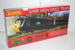 GRADE U- BOIXED HORNBY GWR HIGH SPEED TRAIN SET RRP-£119.99
