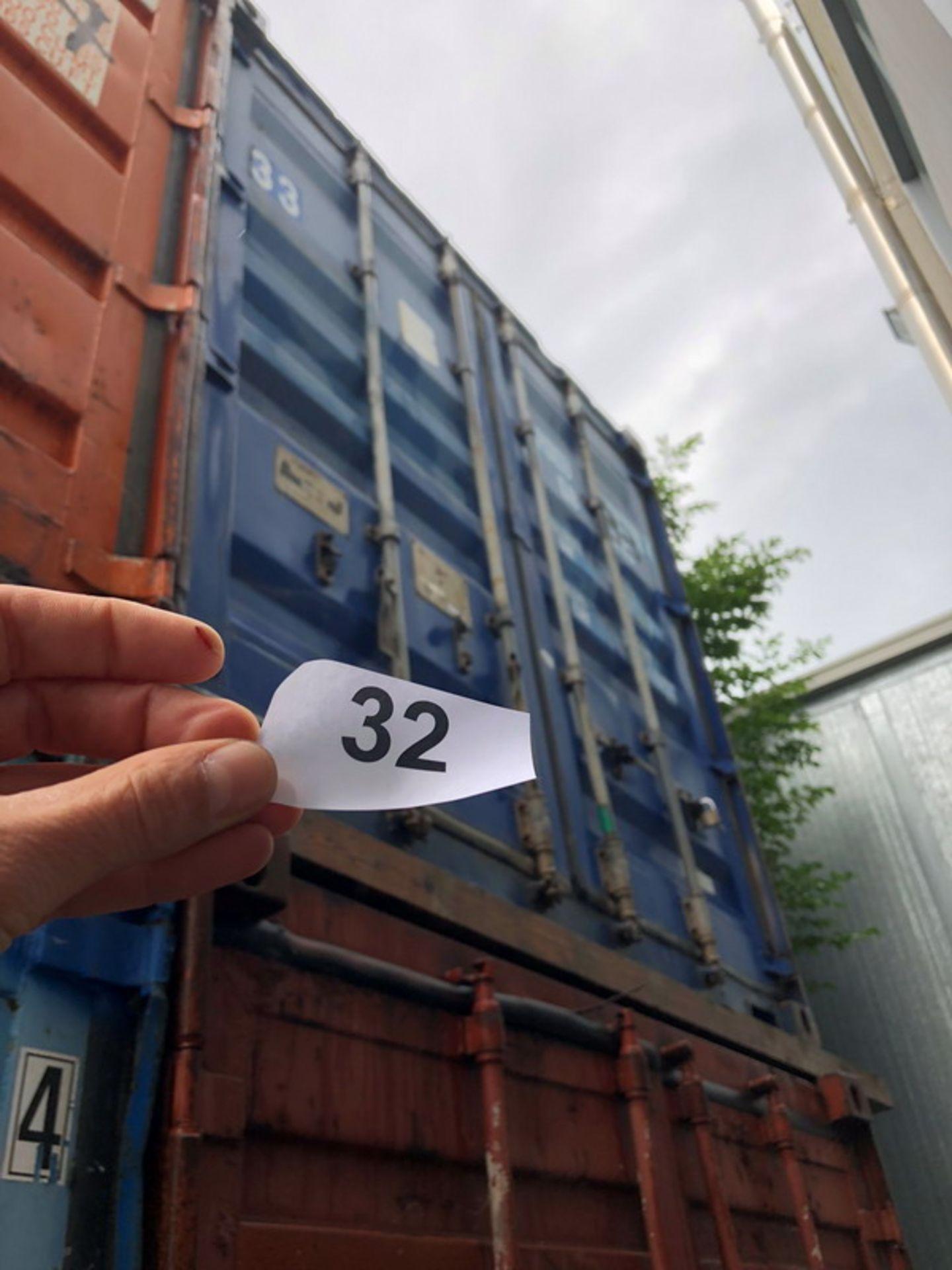 Lot 330 - N. 32 (768 FALLIMENTO) CONTAINER PESANTE BLU N. 33, DIMENSIONI 6,20X2,40 (BENI IN VIA EX INTERNATI