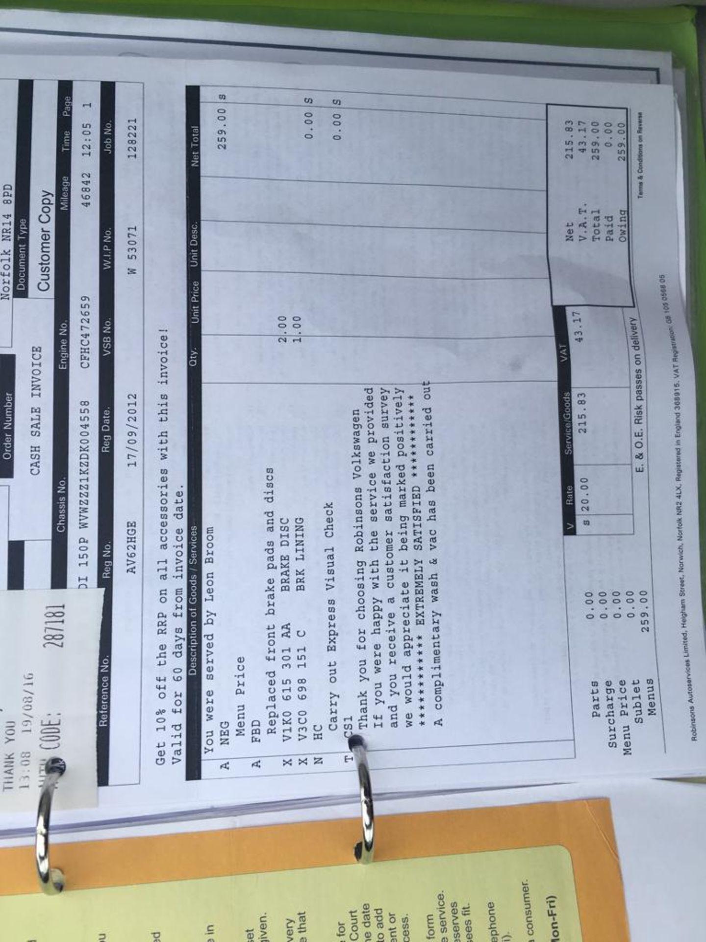 Lot 10 - 2012 VOLKSWAGEN GOLF GT BLUEMOTION TECH TDI CONVERTIBLE