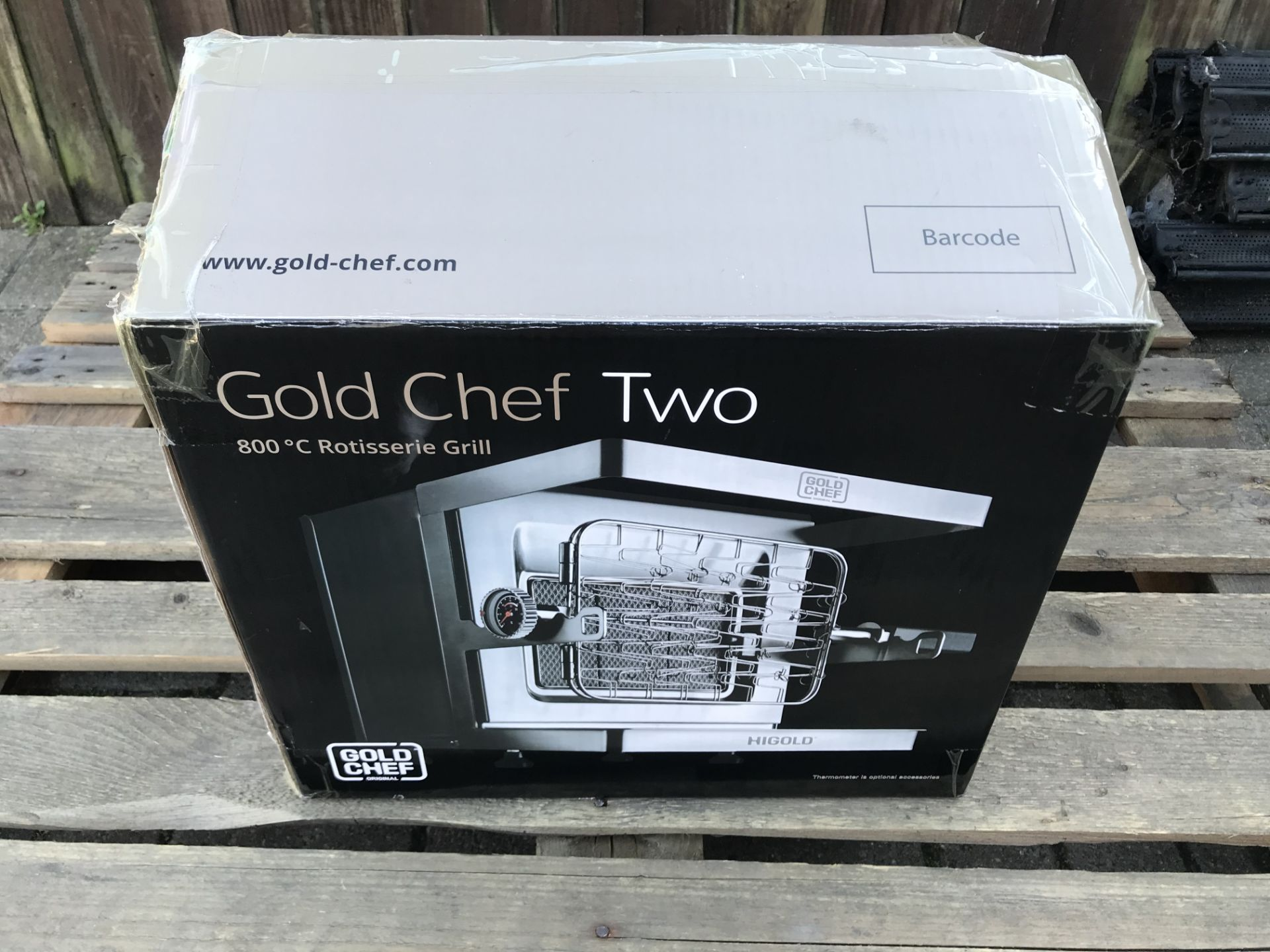 Lot 19 - GOLD CHEF TWO 800C ROTISSERIE GRILL