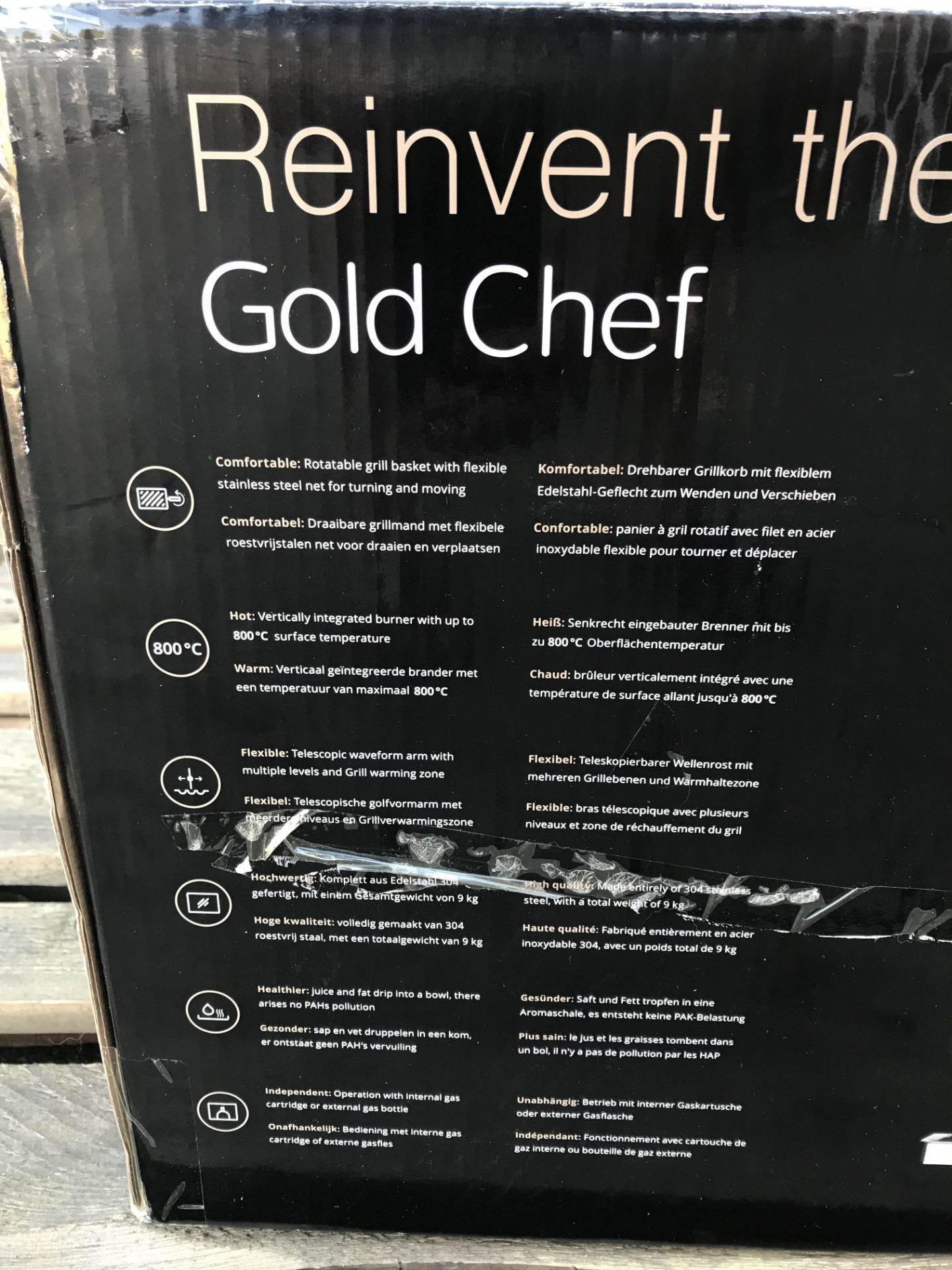 Lot 20 - GOLD CHEF TWO 800C ROTISSERIE GRILL