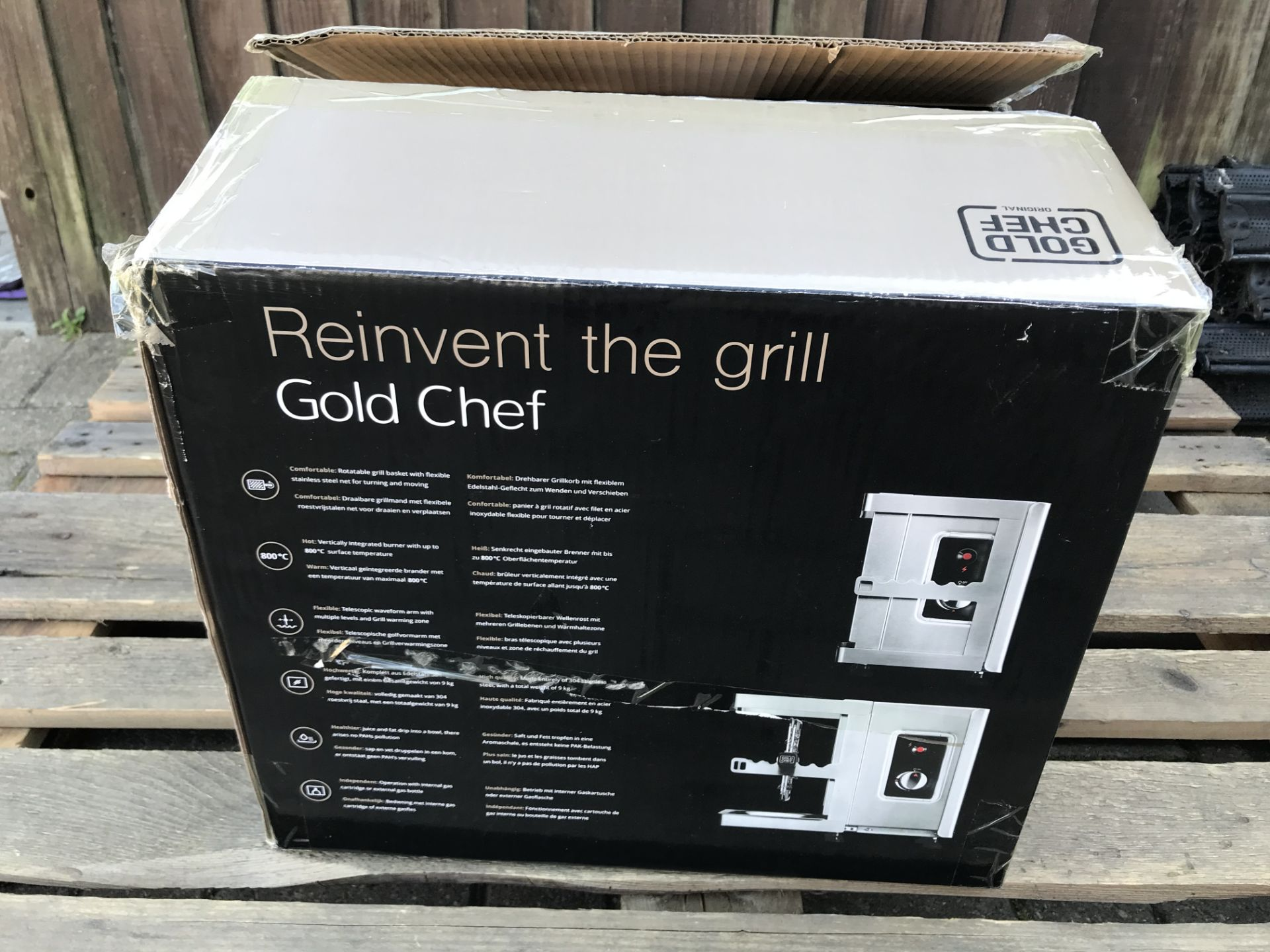 Lot 13 - GOLD CHEF TWO 800C ROTISSERIE GRILL