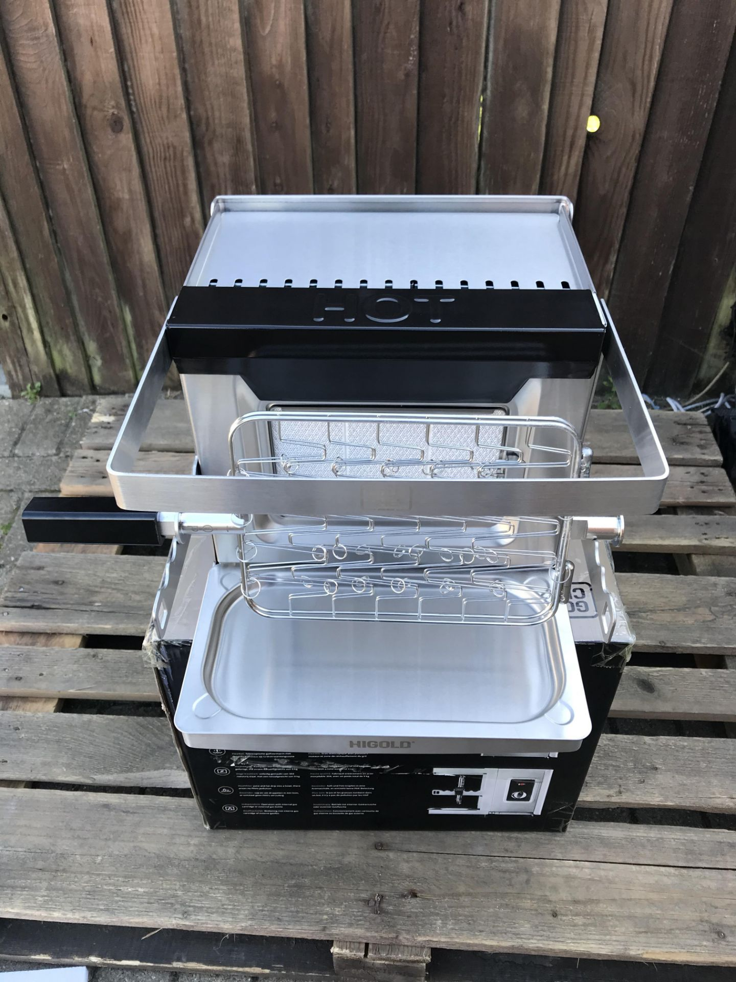 Lot 14 - GOLD CHEF TWO 800C ROTISSERIE GRILL