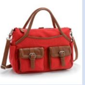 FLAME RED BABY CHANGING BAG - IDEAL HOSPITAL MATERNITY BAG WITH REMOVABLE ORGANISER AND CHANGING MAT