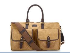 JOBO CANVAS AND LEATHER HOLDALL WEEKEND LEISURE SPORTS BAG