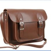 REAL LEATHER SATCHEL