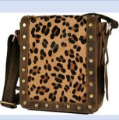 HYDESTYLE HAIR ON LEATHER LADIES MESSANGER/CROSS BODY BAG