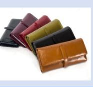 GENUINE LEATHER LADIES LARGE PURSE/WALLET BY YASMIN BAGS -SUPPLIED IN GIFT BOX