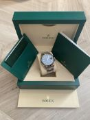 2018 ROLEX SKY DWELLER OYSTER 42MM OYSTERSTEEL & WHITE GOLD **BLUE DIAL**