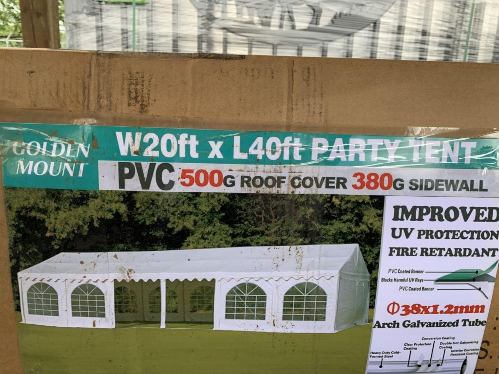 Lot 215 - 2019 Golden Mount Party Tent