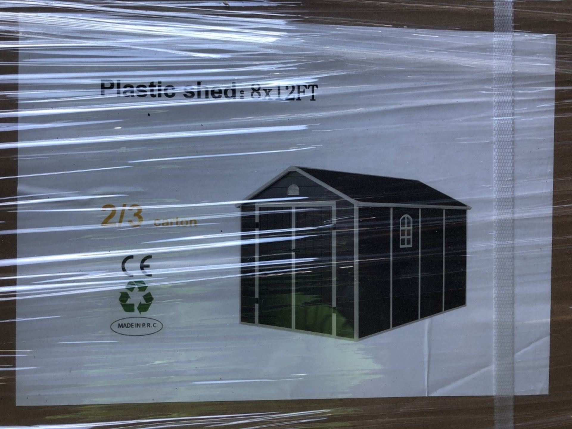 Lot 170 - Plastic 8ft x 12ft Storage Shed