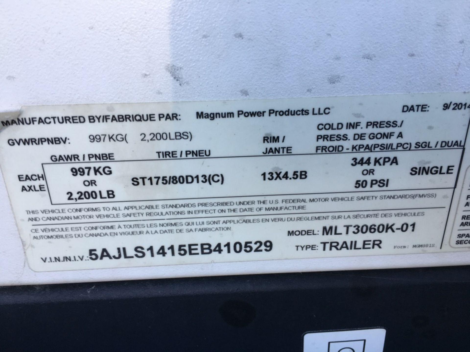 Lot 42 - 2014 Magnum MLT3060K Towable Light Tower