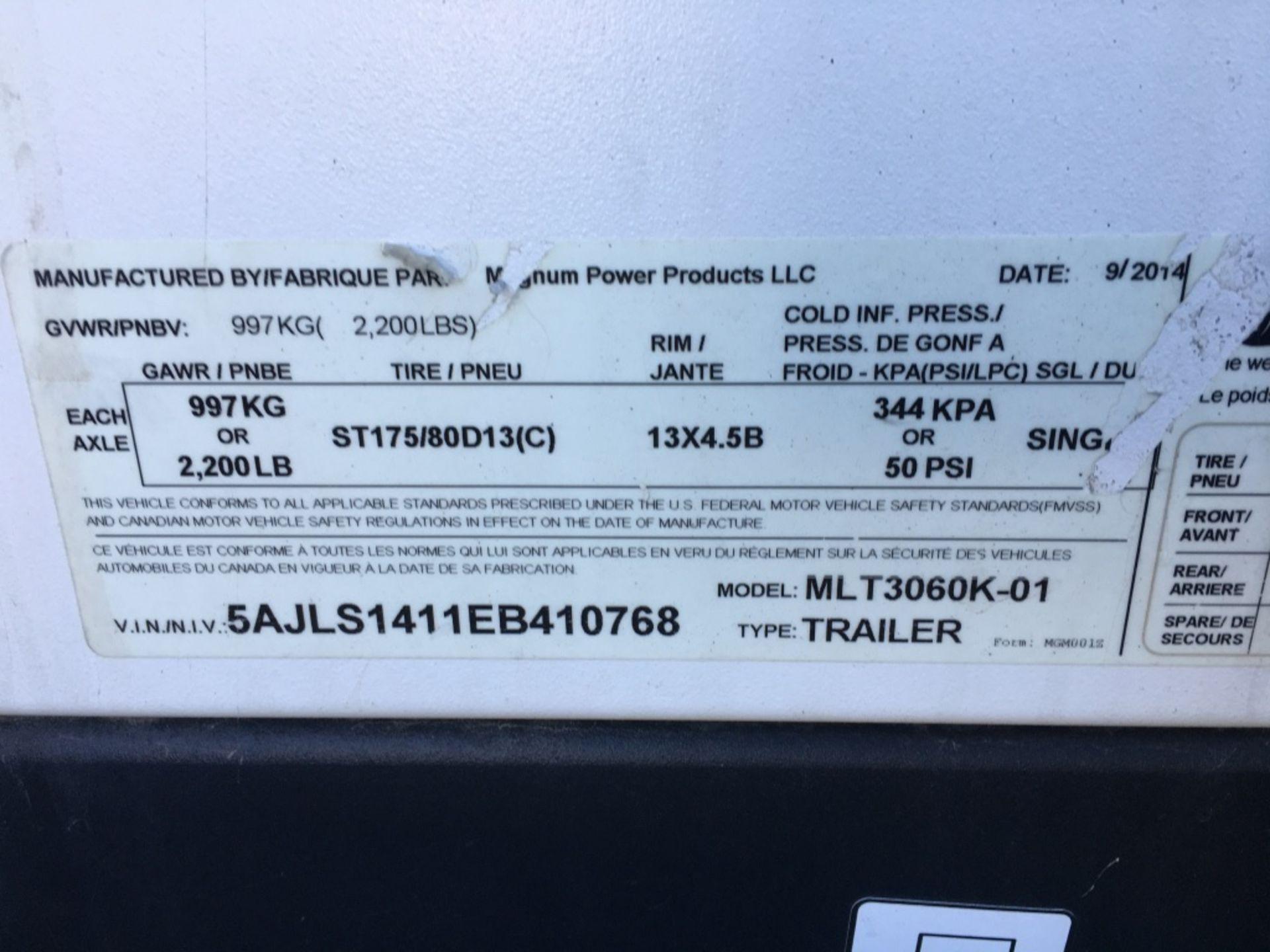 Lot 43 - 2014 Magnum MLT3060K Towable Light Tower