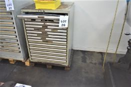 1 X POLSTORE 15 DRAWER ENGINEERS CABINET & ANY CONTENTS