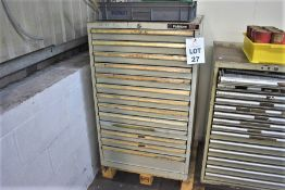 1 X DRAWER POLSTORE 13 DRAWER ENGINEERS CABINET & ANY CONTENTS
