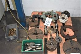 QTY OF MACHINE TOOLING INC TAIL STOCK, VARIOUS CHUCKS ETC WILL SUTE LOT 34