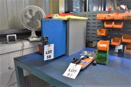 1 X STEEL CABINET & VARIOUS CONTENTS