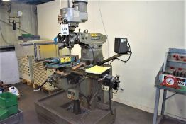 """1 BRIDGEPORT SERIES 1 MILLING MACHINE WITH TWIN AXIS CONTROL & 8"""" MACHINE VICE"""
