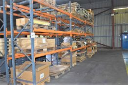 3 X BAYS OF PALLET RACKING 3.5 MTRS 18 BEAMS 4 FRAMES & QTY OF METAL PALLET SUPPORTS