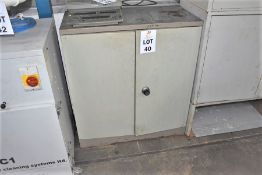 1 X STEEL CABINET OF VARIOUS ELECTRICAL ITEMS