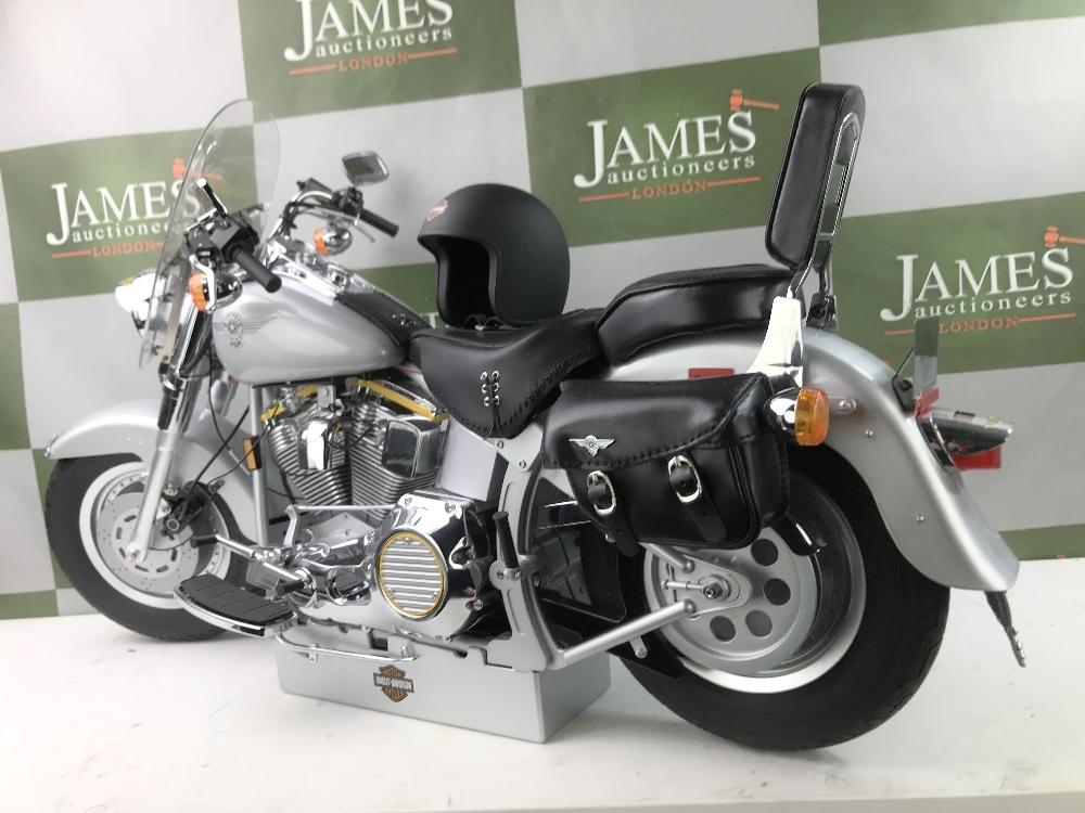 Lot 14 - DeAgostini Harley Davidson Fatboy 1:4 Scale Working Lights, Horn, Sounds etc