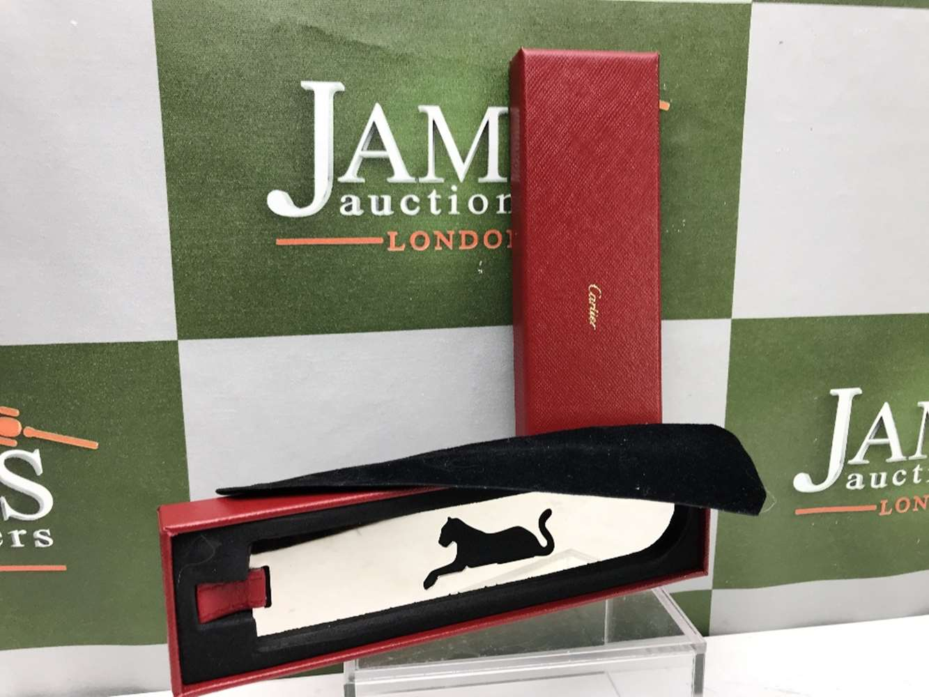 Lot 16 - Cartier Stainless Steel Panther Bookmark