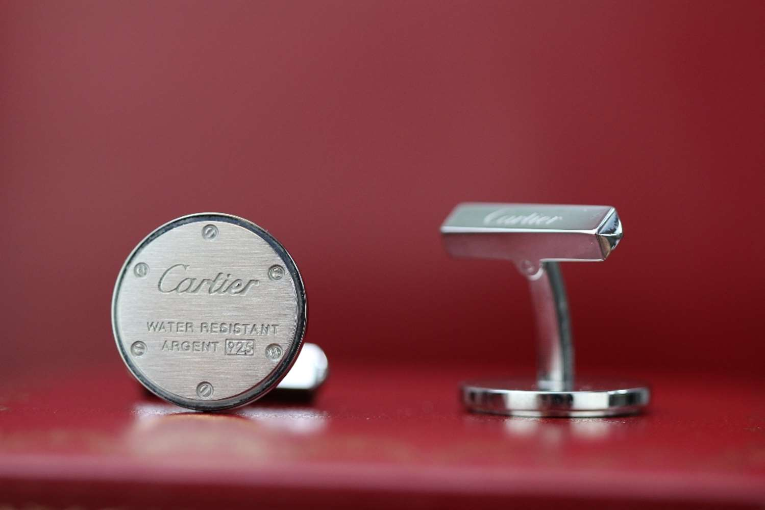 Lot 3 - Cartier Cufflinks .925 Sterling Silver.