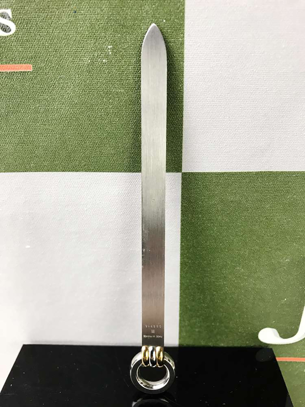 Lot 9 - Cartier Must DeCartier Sterling Silver & Gold Plated Letter opener