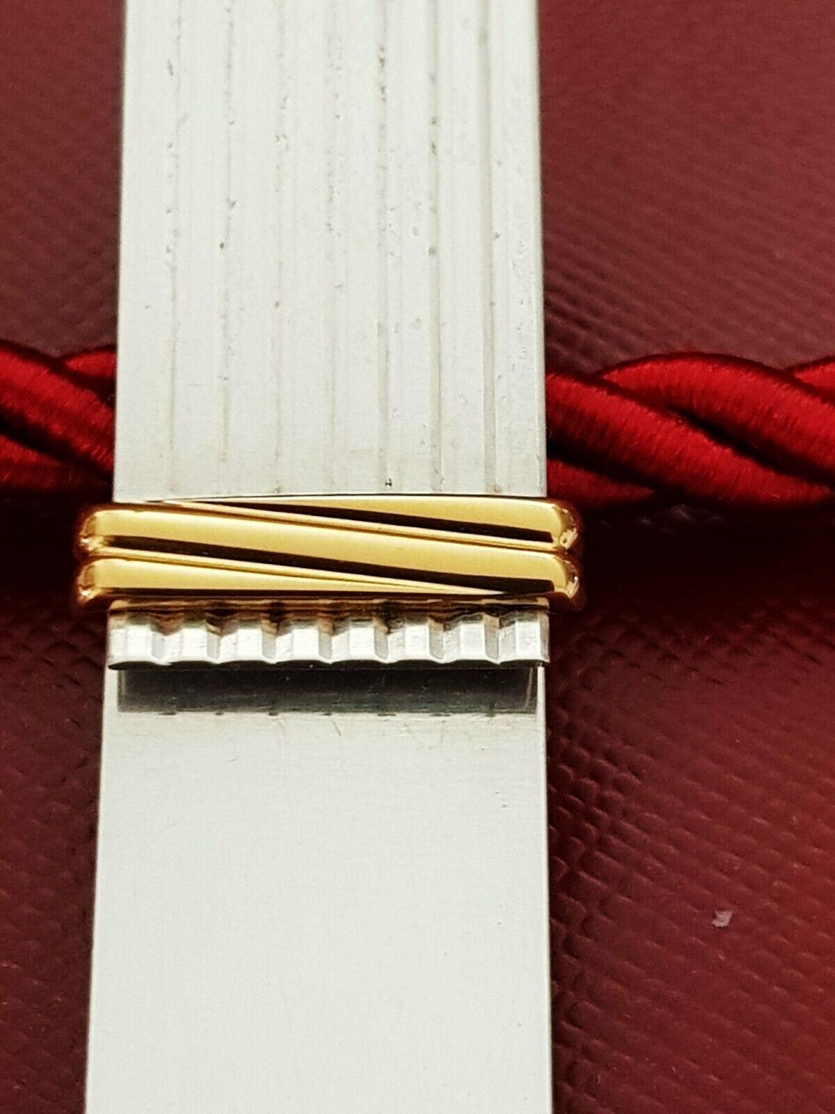 Lot 3 - Cartier Gold Plated & Silver Must De Cartier Edition Money Clip