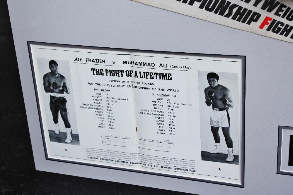 "Lot 1 - Muhammad Ali & Joe Frazier Signed Life Magazine ""Fight of The Century"" Montage"