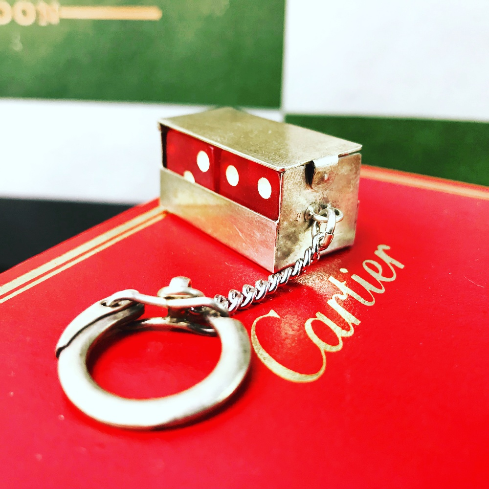 Lot 2 - Cartier Vintage Sterling Silver Lucky Dice Keyring Key Chain