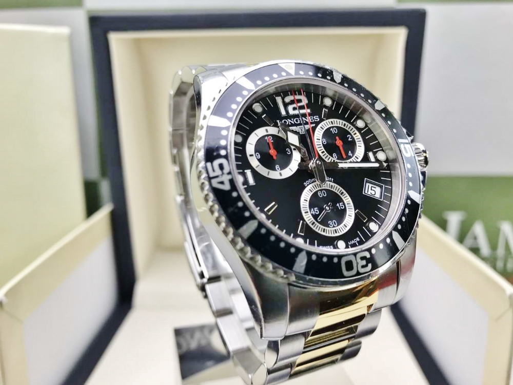 Lot 19 - Longines Hydro Conquest 41mm Chronograph