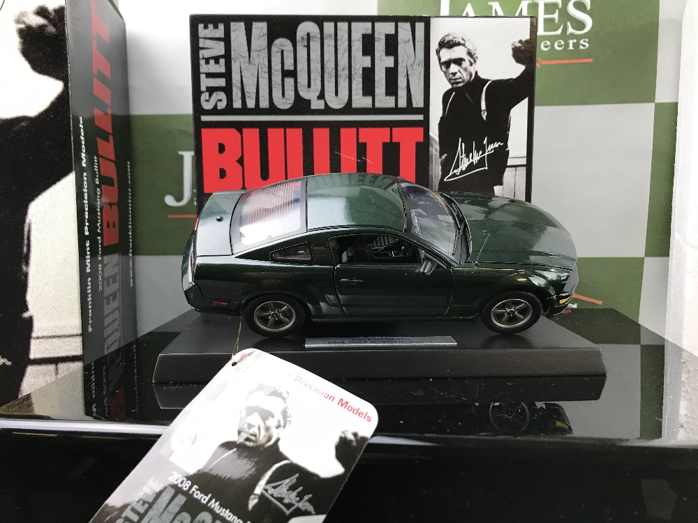 Lot 6 - Franklin Mint 1:24 Scale Ford Mustang GT Bullit Steve McQueen Ltd edition of only 5000