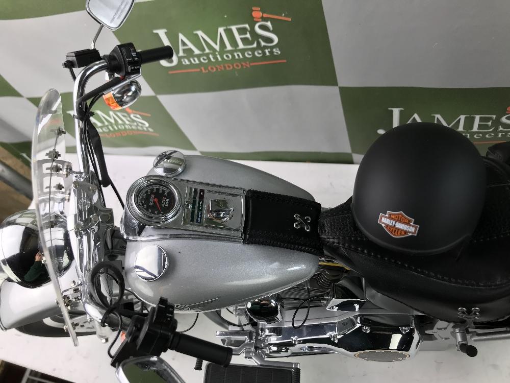 Lot 14 - HUGE! DeAgostini Harley Davidson Fatboy 1:4 Scale Working Lights, Horn, Sounds etc