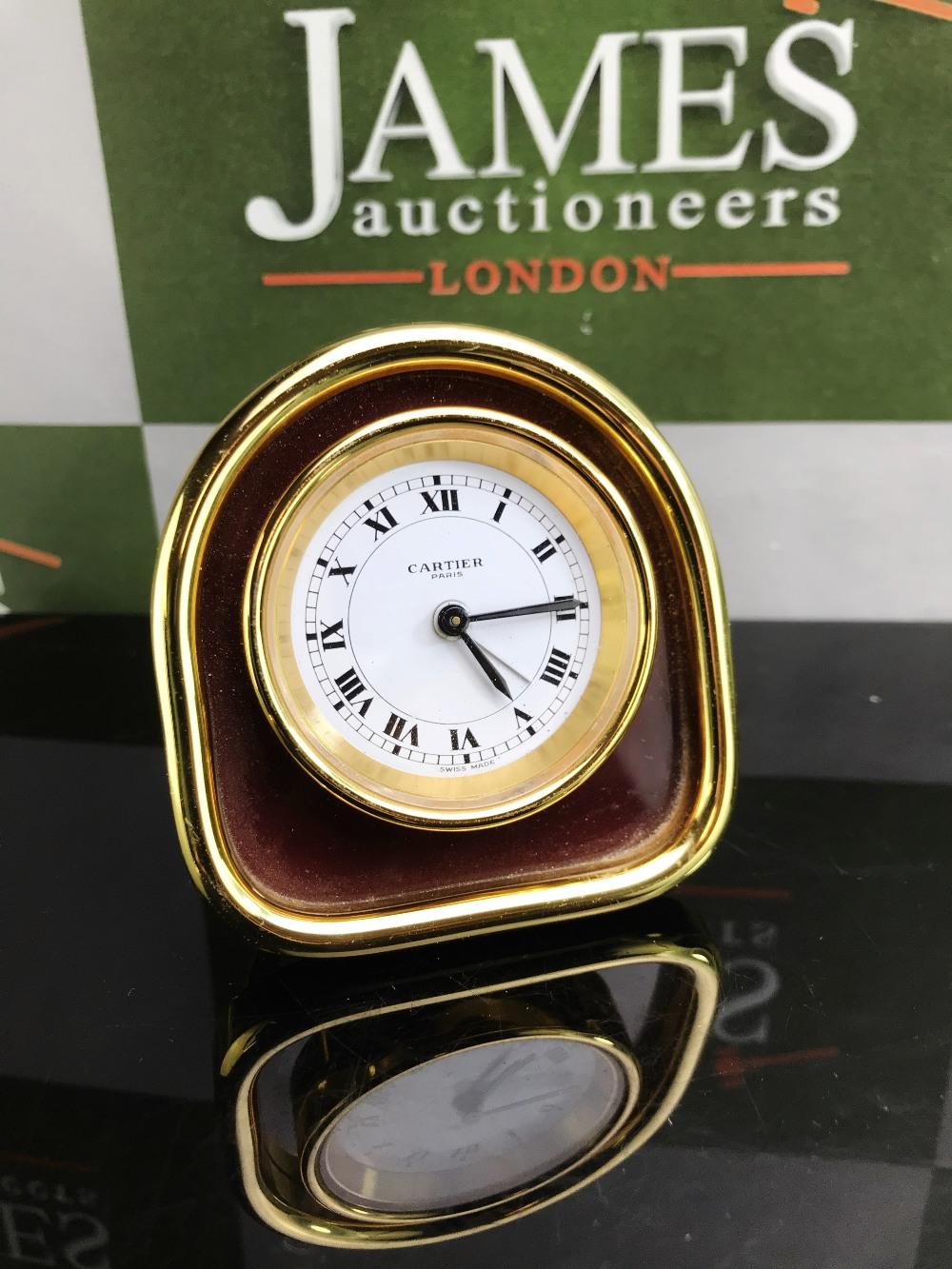 Lot 13 - Cartier Paris Desk Alarm Clock