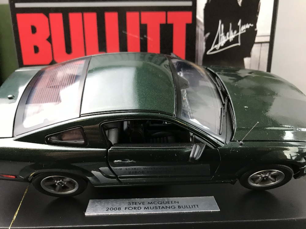 Lot 6 - Franklin Mint1:24Scale Ford Mustang GT Bullit Steve McQueen Ltd edition of only 5000