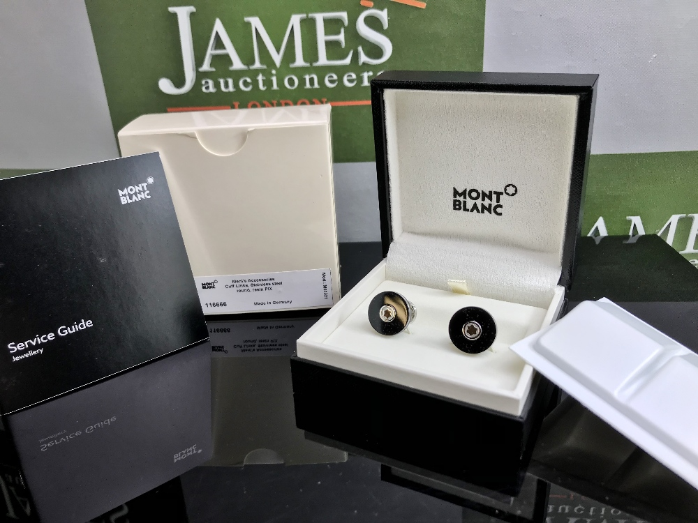 Lot 5 - Montblanc Pair of New Ex Display New Edition Contemporary Cufflinks