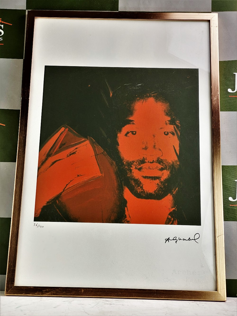 """Lot 16 - Andy Warhol Plate Signed #56/100 Lithograph """"OJ Simpson"""""""