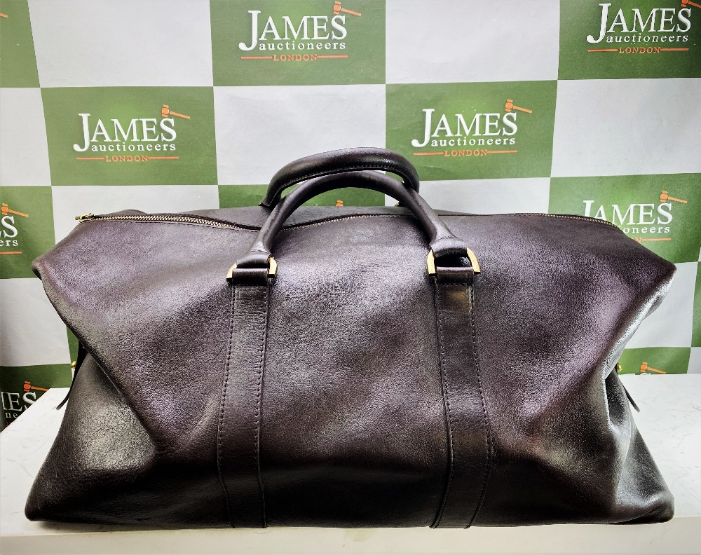 Lot 5 - Mulberry Leather Clipper Weekend Bag -55cm, Rrp £1395.00