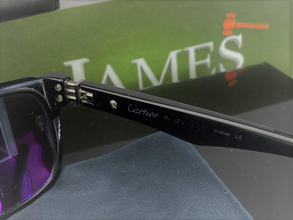 Lot 2 - Cartier Unisex Sunglasses & Case