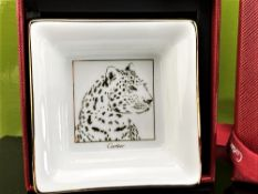 "Cartier ""Panther Ltd Edition Collection"" Porcelain Trinket Tray"