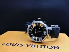 Louis Vuitton Tambour Black Analogue & Digital Edition 41.5MM, Ref Q118F