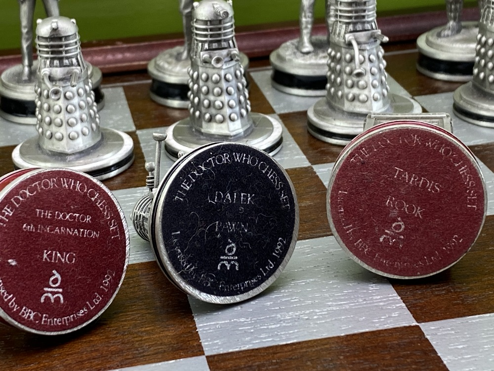 Lot 20 - Doctor Who: Danbury Mint Chess Set 1992-Extremely Rare Edition
