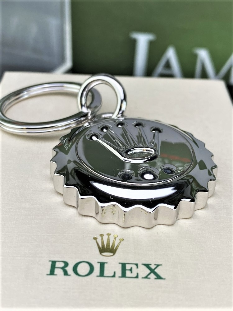 Lot 22 - Rolex Official Merchandise Silver Crown Keyring NewExample