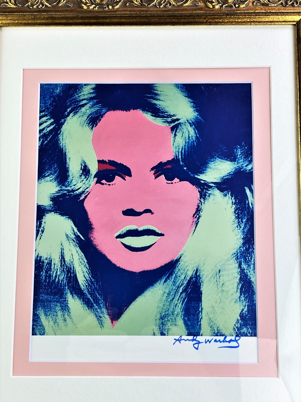 "Lot 10 - Andy Warhol 1984 ""Brigitte Bardot"" Lithograph Ltd Edition"