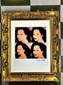 "Andy Warhol 1984 ""Diana Ross"" Lithograph #17/100 Ltd Edition"