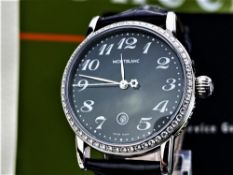 WITHDRAWN-Montblanc Meisterstuck Factory Edition 58 Diamond (0.67ct) Ltd Edition Watch,
